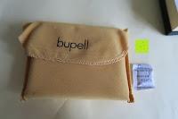 Beutel: bupell Flache Portemonnaie mit herausnehmbarem Ausweisfach - Aus echtem Leder - Seitlichem Münzfach mit Reißverschluss - Schwarz