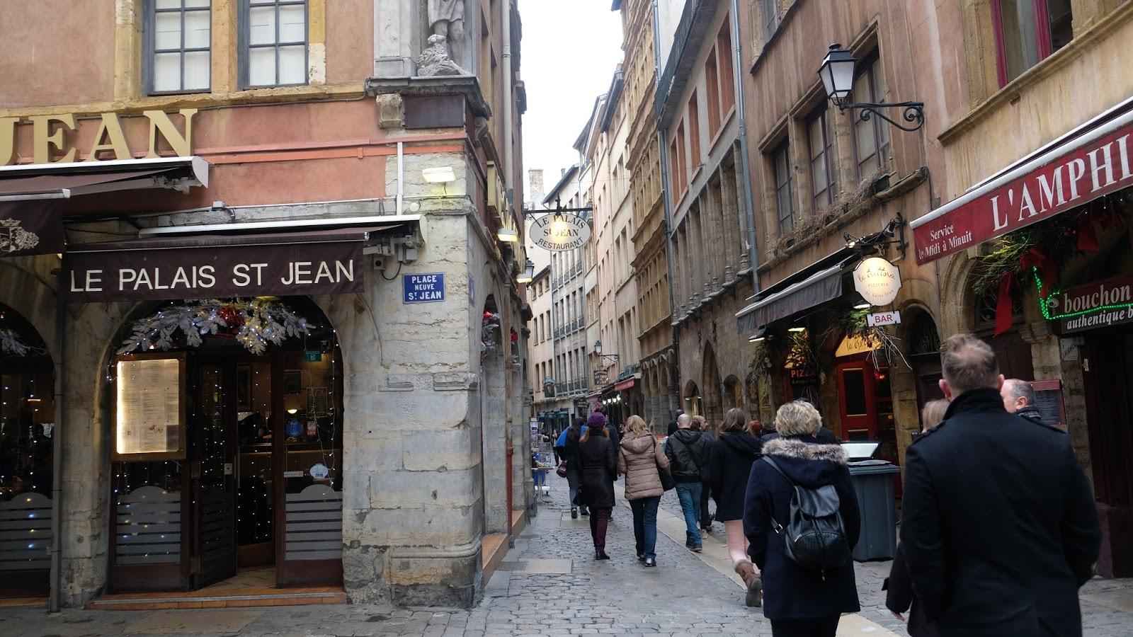 rue Saint-Jean dans le vieux Lyon