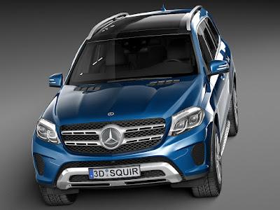 2016 Mercedes GLS 400 4MATIC Dark blue HD wallpapers