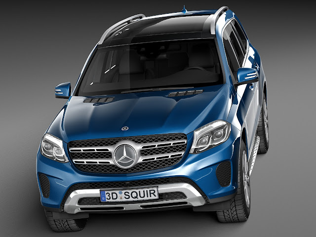 2016 Mercedes GLS 400 4MATIC Dark blue HD wallpapers