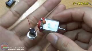 Bor PCB Buatan Sendiri dari DC Motor Bekas Mainan