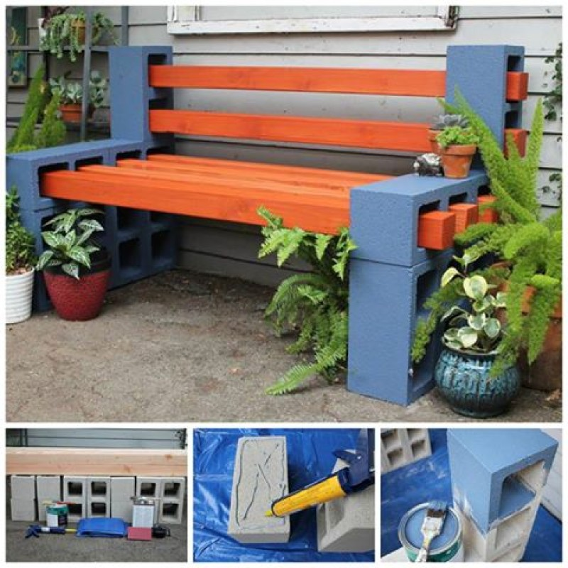 World of architecture 15 fun outdoor seating ideas using for Cinder block seating area