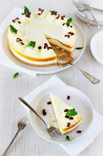 Yoghurt-mangotaartje