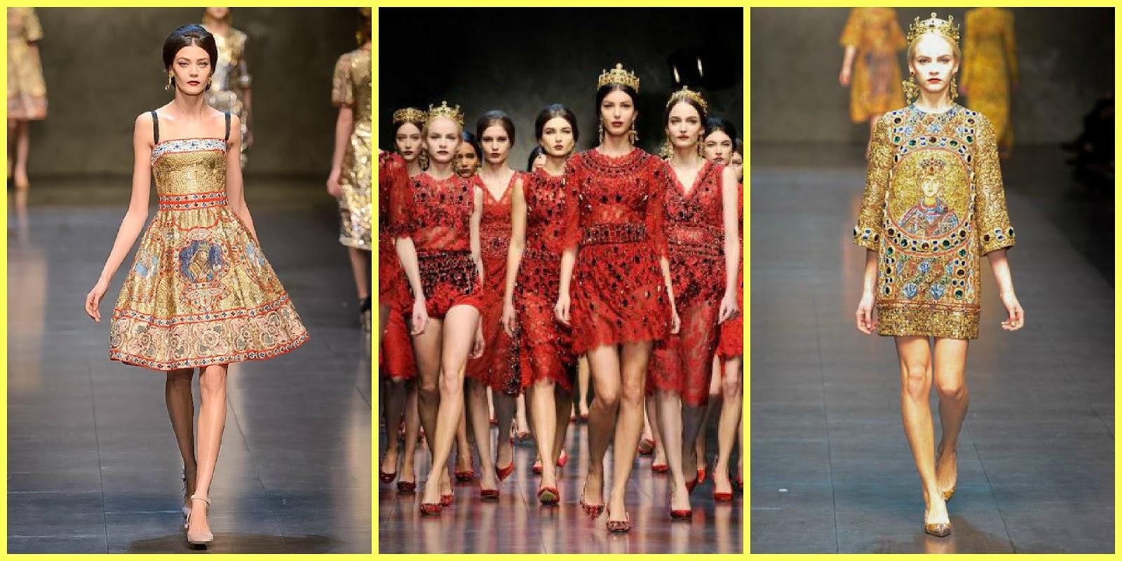 Stylefluid Trendz  Byzantine Glitter At Dolce   Gabbana Fall Winter 2013 ef0f54f1aa4