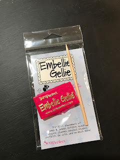 Embellie Gellie helps to pick up and attach small embellishments to all your craft projects