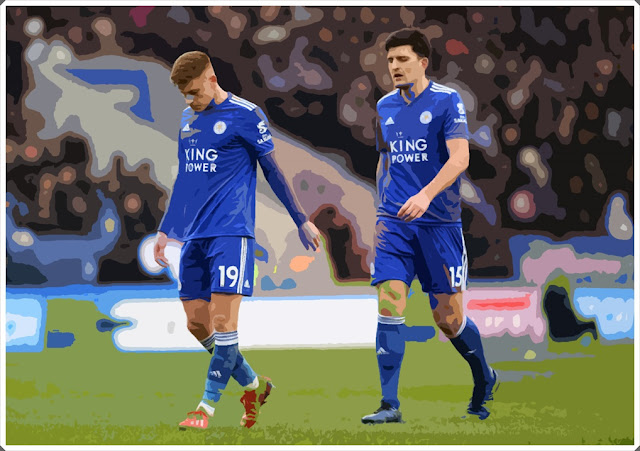 Harvey Barnes Leicester City Harry Maguire