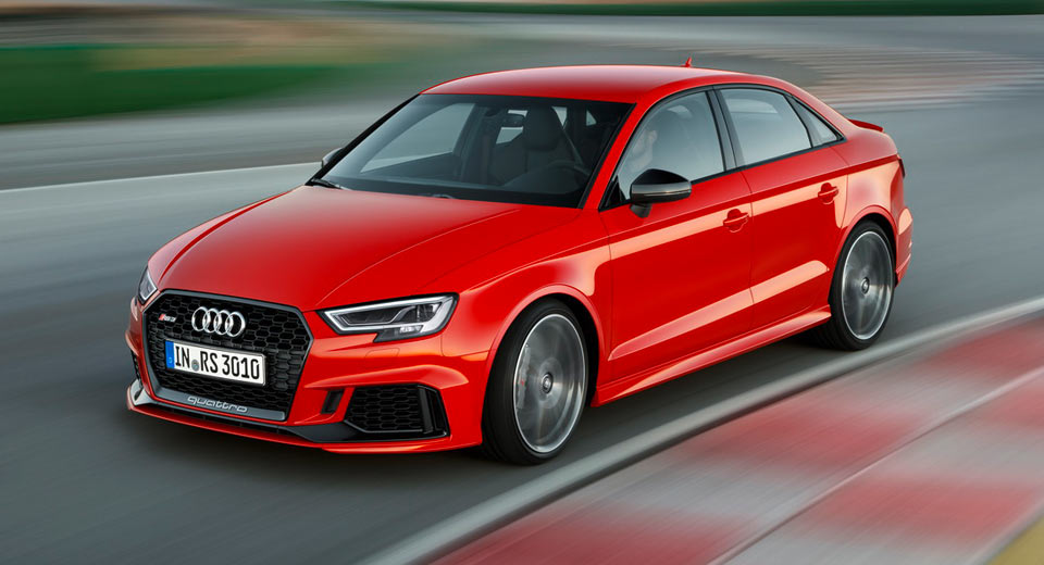 An options sheet from Canada has revealed that the 2018 Audi RS3 Sedan ...
