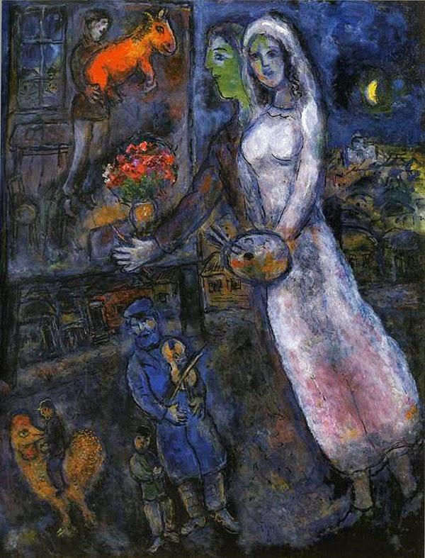 Recém Casados e Violinista - O Surrealismo glorioso de Marc Chagall