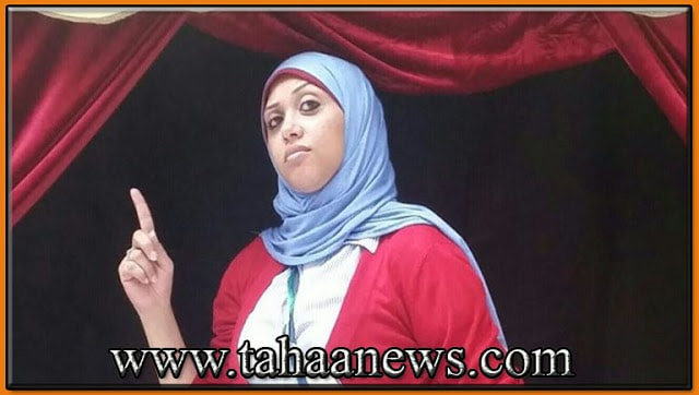 الصحفية رحاب بدرمشنوقة داخل منزلها