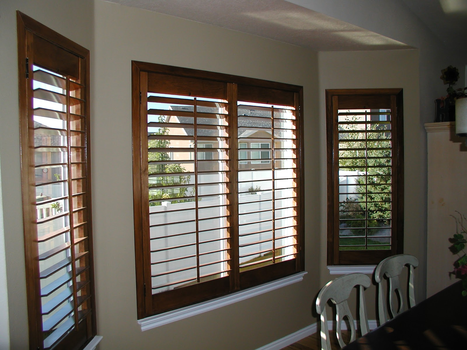 Exterior: Stanfield Shutter Co.: Autumn Plantation Shutters
