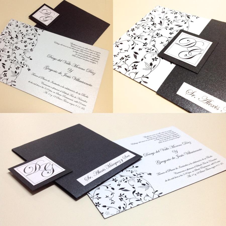 All Design Invitaciones De Matrimonio Blanco Y Negro