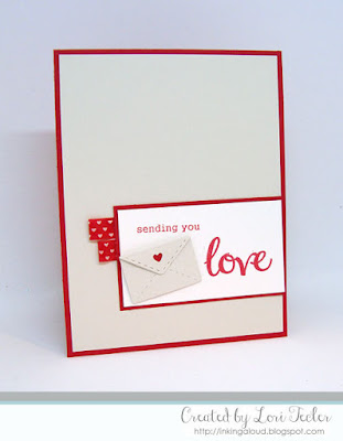 Sending You Love card-designed by Lori Tecler/Inking Aloud-stamps and dies from SugarPea Designs