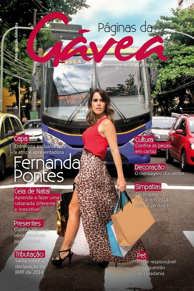 Fernanda Pontes em capa de revista