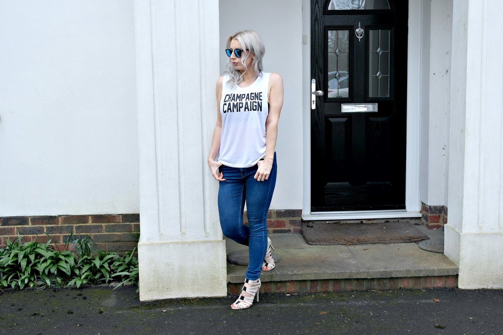 champagne campaign top, t-shirt