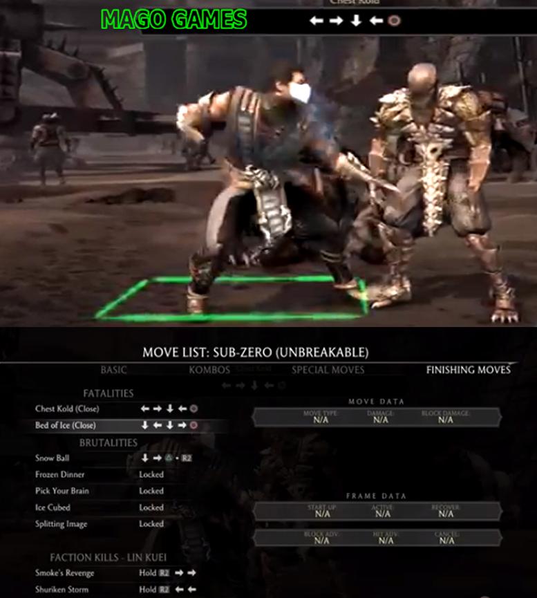 Sub Zero Mortal Kombat X Sub Zero Fatality