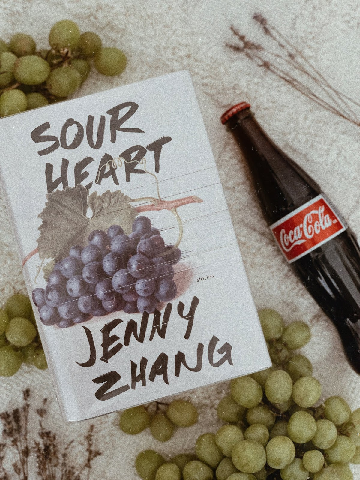 flatlay of sour heart by jenny zhang - favourite quote | book book bitch