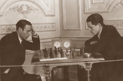 Torneo Nacional de Madrid 1941, partida de ajedrez F. J. Pérez - Fuentes