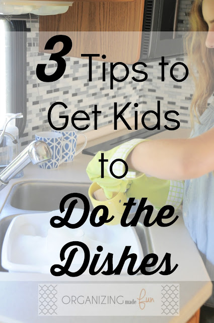 3 Tips to Get Kids to Do the Dishes :: OrganizingMadeFun.com