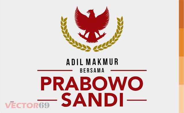 Logo Kampanye Prabowo-Sandi Capres 02 Adil Makmur - Download Vector File AI (Adobe Illustrator)