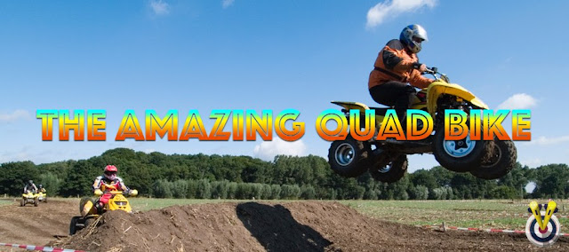 Quad biking going over a jump