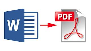 Convert File Microsoft Word ke File PDF Tanpa aplikasi