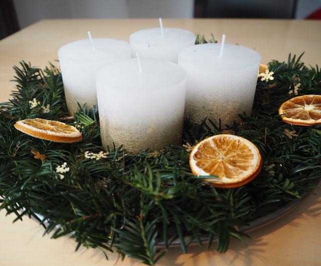 DIY Adventskranz (last minute) - Weihnachtskitsch #1