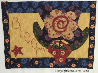 Bloom block from Pat Sloan BOM Friends on Chelsea Lane