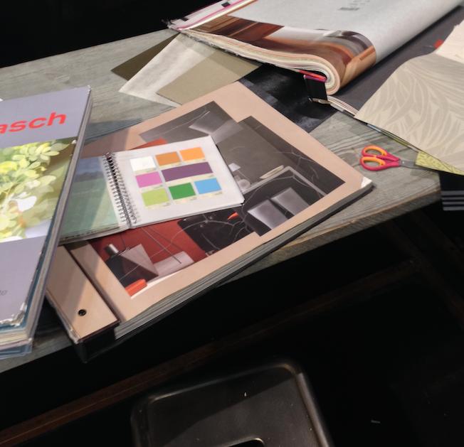 diy que faire avec des chutes de papier peint. Black Bedroom Furniture Sets. Home Design Ideas