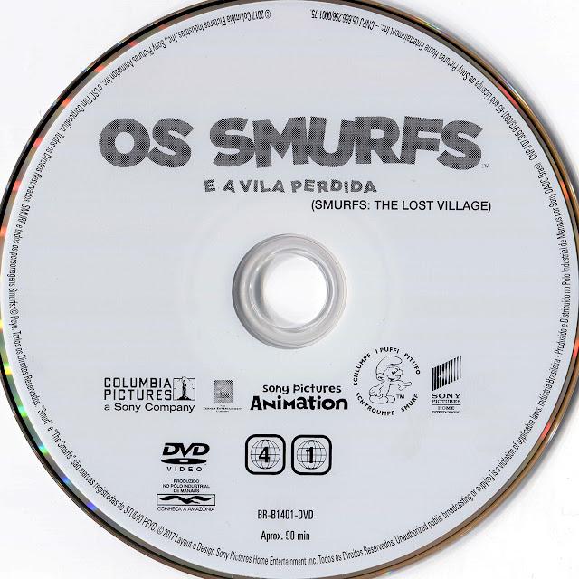 Label DVD Os Smurfs e a Vila Perdida (Oficial)