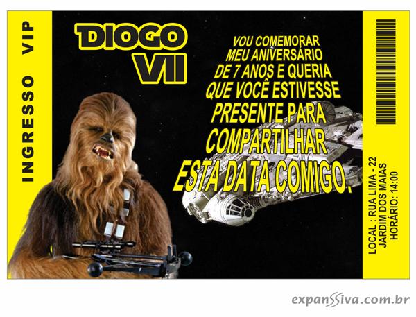 convites de aniversario nfantil star wars03 - Convites de Aniversário do Star Wars