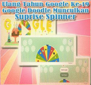 Ulang Tahun Google Ke-19: Google Doodle Munculkan Suprise Spinner Dengan Banyak Game Unik