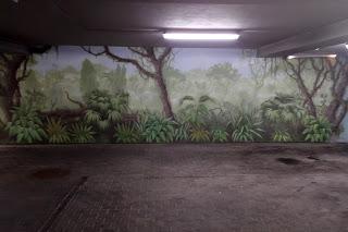 Malowanie dżungli na ścianie, mural, artystyczne malowanie ścian na zamówienie cena.
