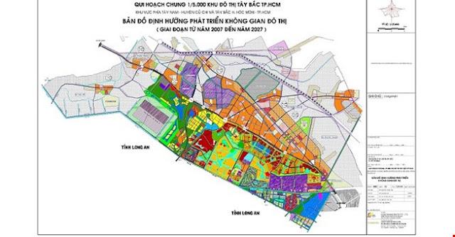 Bản đồ quy hoạch khu đô thị Tây Bắc