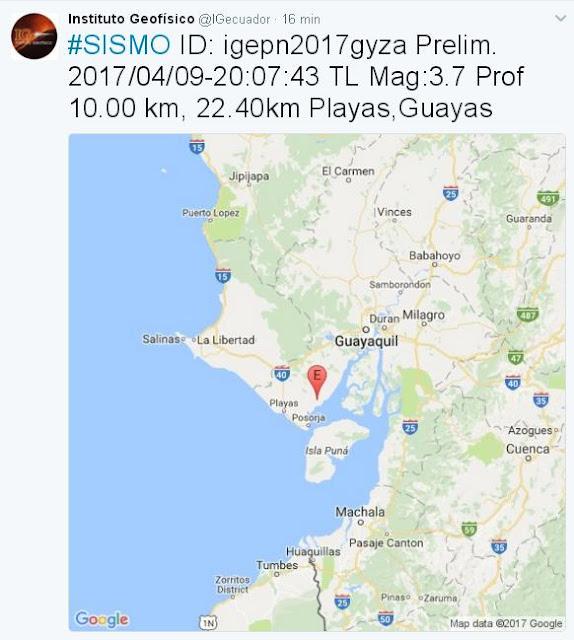 temblor sismo playas