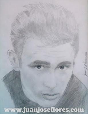 James Dean pencil a4