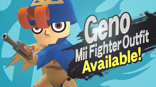 Geno Mii Fighter Outfit Available!