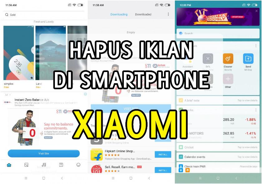 cara hapus iklan di hp smartphone xiaomi