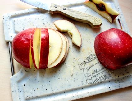 Pomme feuillet e en bouton de rose apple rose il tait - Comment couper des pommes pour une tarte ...