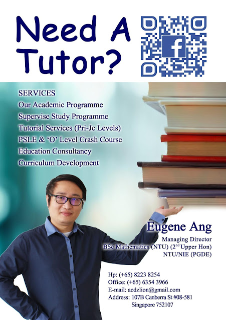 Contact us now if you need a tutor