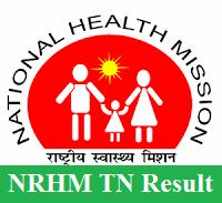 NRHM TN Result