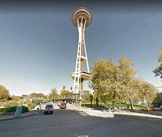 Space Needle is an observation tower in Seattle Washington