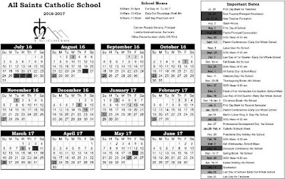 calendar catolic 2016 2017