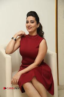 Telugu Tollywood Anchor Manjusha Pos in Red Short Dress  0076.JPG