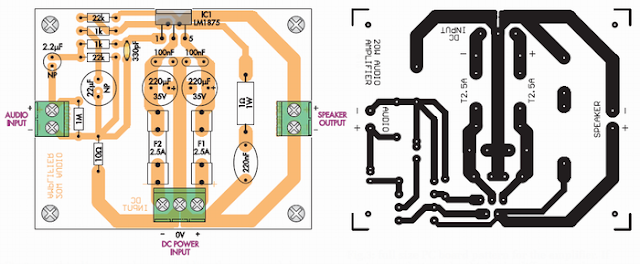 LM1875 pcb layout