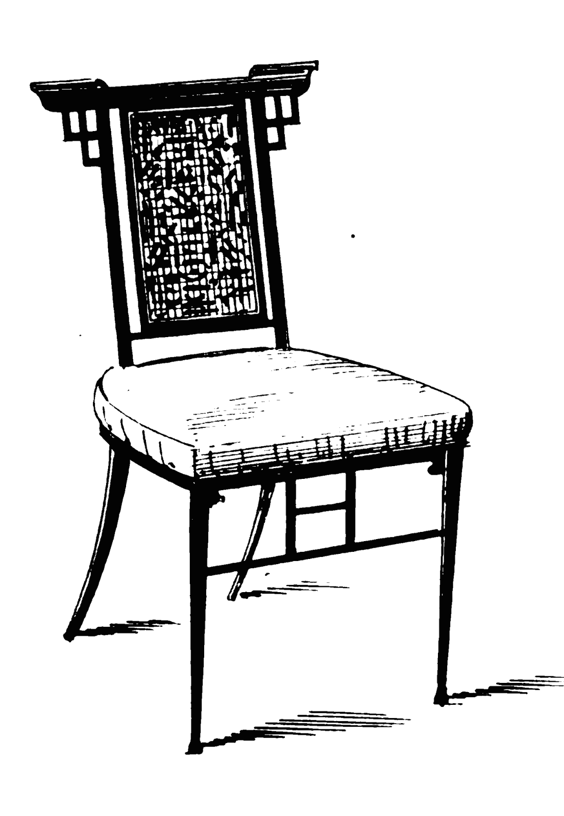 19th Century Historical Tidbits: 1880 furniture designs