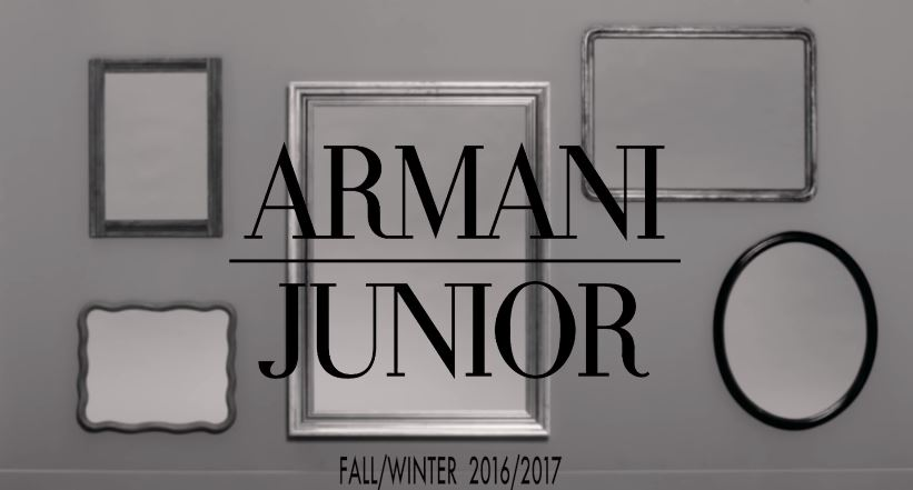 Nome modello e modella Armani Junior con bambini con Foto - Testimonial Spot Pubblicitario Armani Junior 2016