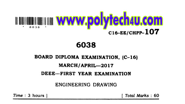 C-16 DEEE DRAWING QUESTION PAPER
