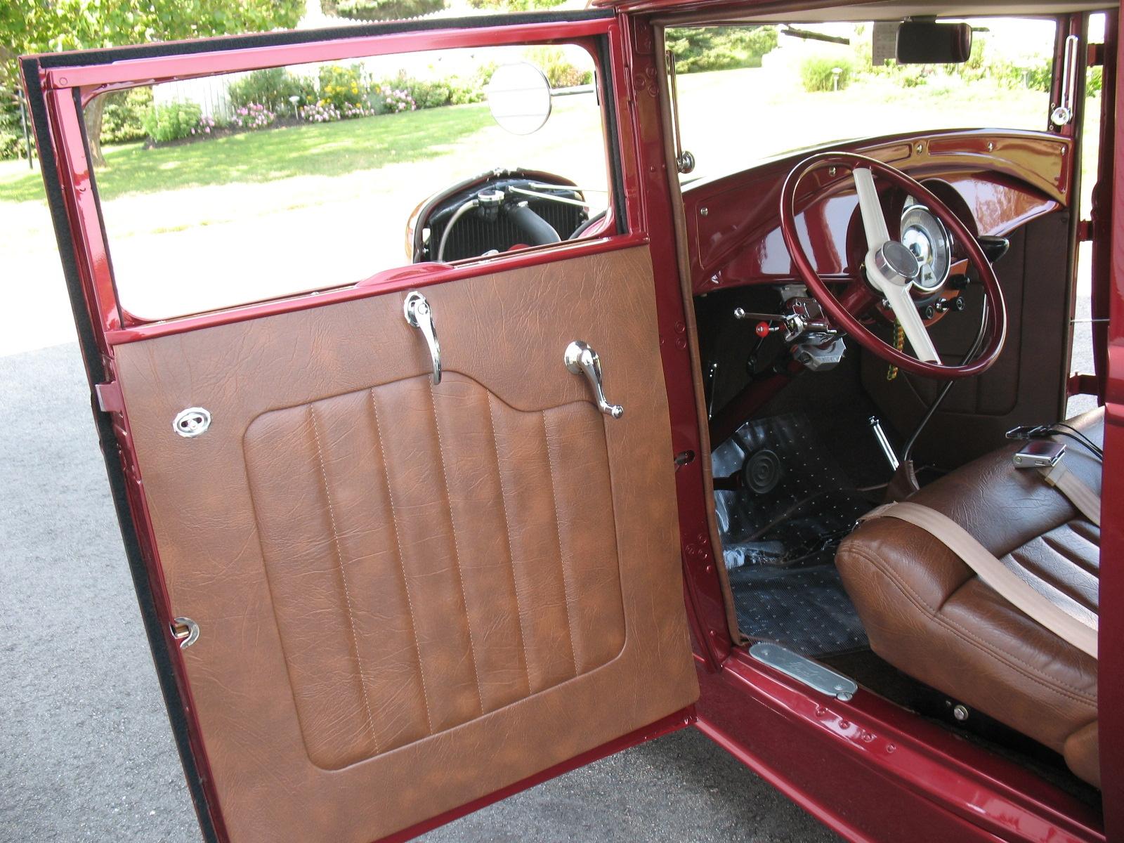 VAPHEAD: Tom's hot rod coupe , interior done.