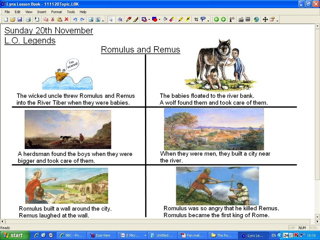 Mr Howe S Class Topic The Legend Of Romulus And Remus