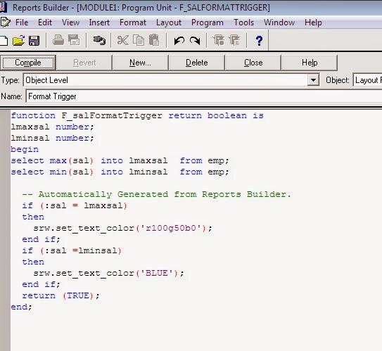 Oracle Report Builder